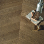 pavimento legno tinto terra di siena